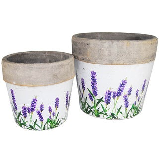 Lavender Flower Pot