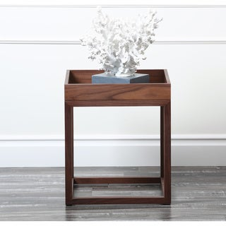 Abbyson Living Charleston Square Walnut End Table