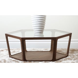 Abbyson Living Verona Walnut Coffee Table