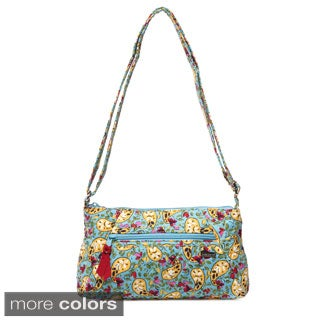 Laura Ashley Paisley Quilted East/West Crossbody Bag