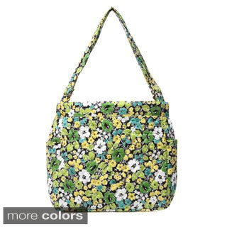 Laura Ashley Quilted Hobo Shopper