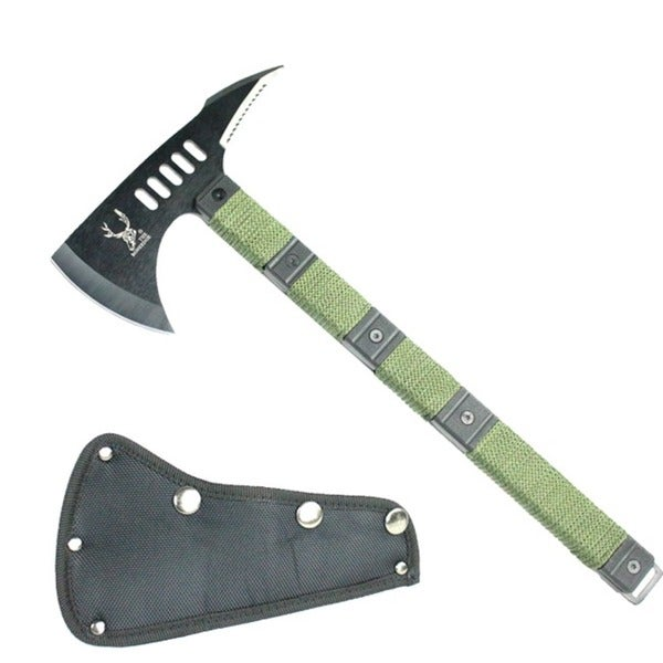 Full Tang 14 1/2-inch Zombie Killing Tactical Axe with Sheath