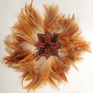 Cuff Luv Tan Feather Magnetic Brooch