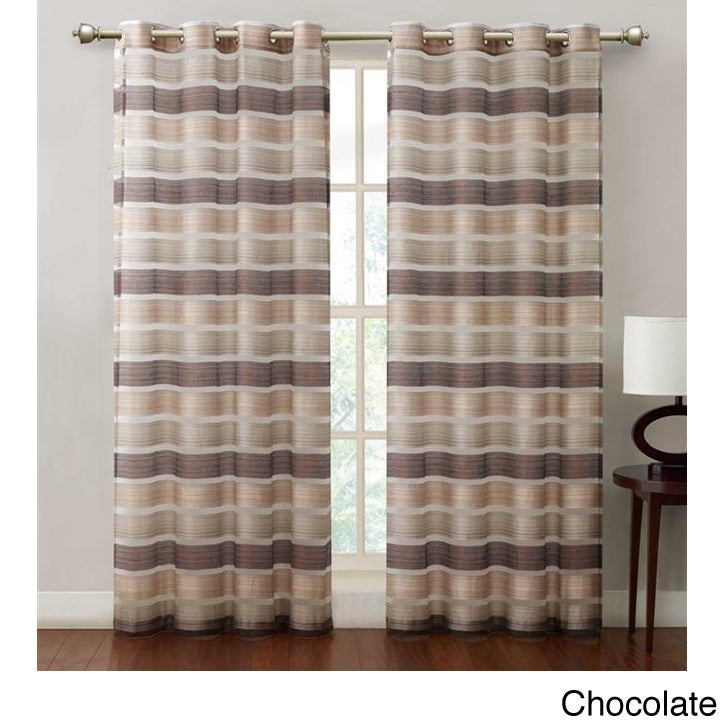 Allura Stripe Grommet 84-inch Curtain Panel at Sears.com