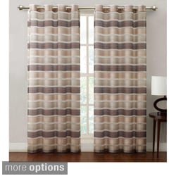 Allura Stripe Grommet 84-inch Curtain Panel