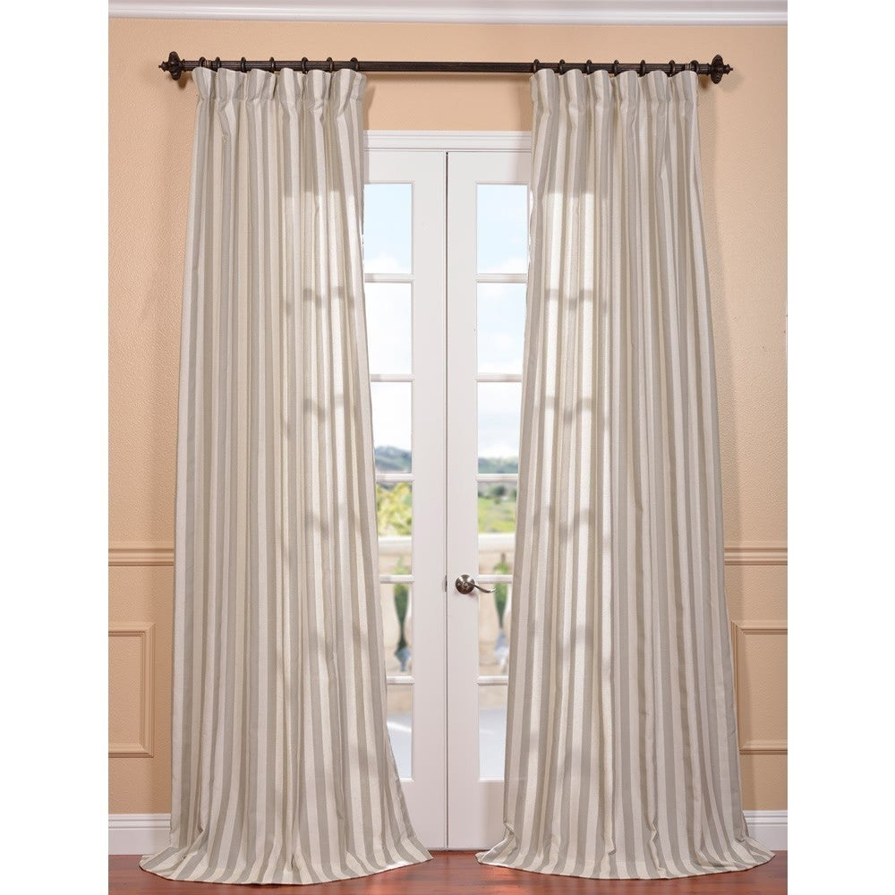 EFF Key West Stone Linen Blend Stripe Curtain Panel at Sears.com