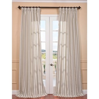Key West Stone Linen Blend Stripe Curtain Panel