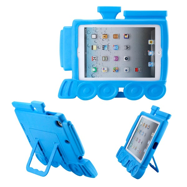 Gearonic Blue Children Safe Protective Foam Train Shape Case for iPad Mini iPad mini 2 Retina Display
