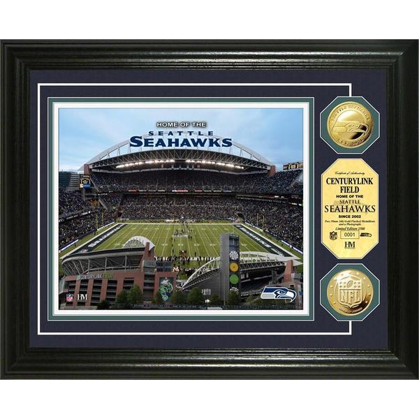 Seattle Seahawks Centurylink Field Gold Coin Photo