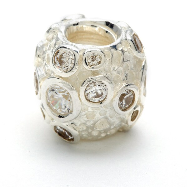Sterling Silver Clear Crystal Bead