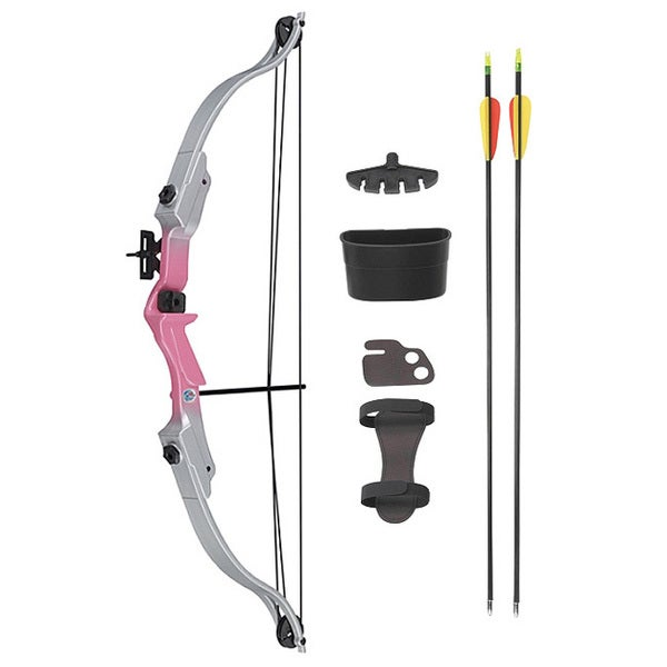 Wizard Archery 22-inch Youth Pink Riser & Silver Limb Compound Bow