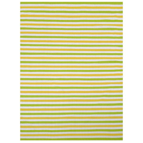 Pistachio/ Beige Outdoor Reversible Patio Rug