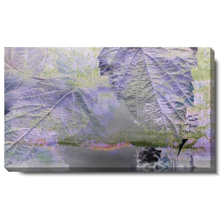Studio Works Modern 'Purple Mist Leaves' Gallery Wrapped Canvas