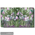 Studio Works Modern 'Spring Garden Bloom - White or Red' Gallery Wrapped Canvas
