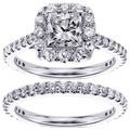 14k/18k Gold or Platinum 2 1/5ct TDW Diamond Bridal Ring Set (F-G, SI1-SI2)