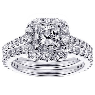 14k/18k Gold or Platinum 2 1/2ct TDW Diamond Bridal Ring Set (F-G, SI1-SI2)