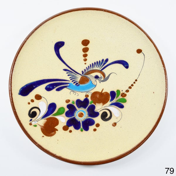 Hand-Painted Clay Decorative Plate (Mexico)