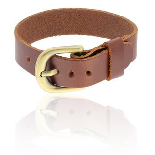 Gravity Smooth Leather Cuff Bracelet