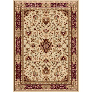 New Tradition Ivory/ Red Area Rug (7'10 x 10'2)