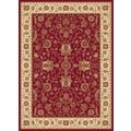 New Tradition Red/ Ivory Area Rug (5'2 x 7'2)