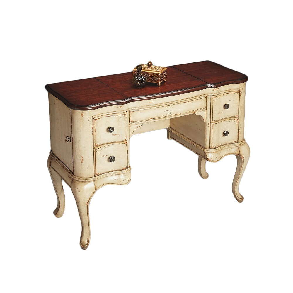 Overstock.com Traditional Cherry and Cream Vanity Dressing Table at Sears.com