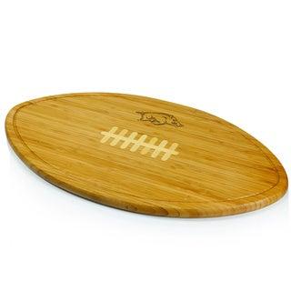 Picnic Time Kickoff University of Arkansas Razorbacks Engraved Natural Wood X- Large Cutting Board