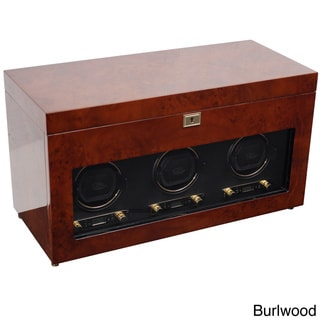WOLF Designs Savoy Triple Watch Winder with Storage