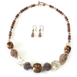 Palmtree Gems 'Barbery Coast' Necklace and Earring Set