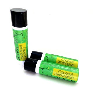 Karess Krafers Coconut Lemongrass Vegan Lip Balm (3-pack)