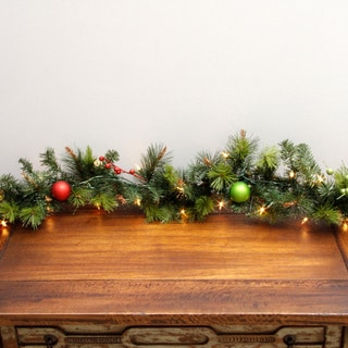Pre-lit Decorated Christmas Garland