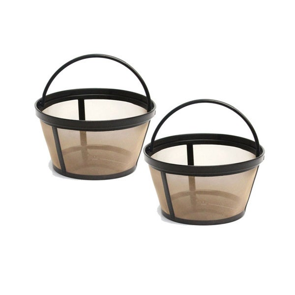 GoldTone 4-8 Cup Reusable Basket Style Coffee Filters (Pack of 2) 11680555
