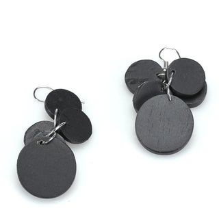Eco-friendly Wooden Disk Earrings (India)