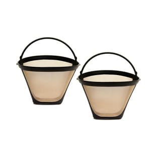 GoldTone 8-12 Cup Reusable #4 Cone Style Coffee Filters (Pack of 2)