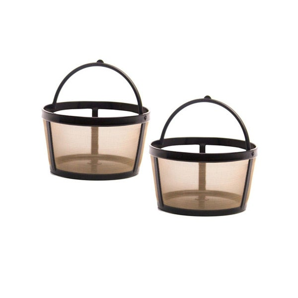 GoldTone 8-12 Cup Reusable Basket Style Coffee Filters with Solid Bottom (Pack of 2) 11680588