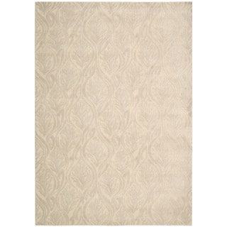 kathy ireland by Nourison Hollywood Shimmer Bisque Rug (5'3 x 7'5)