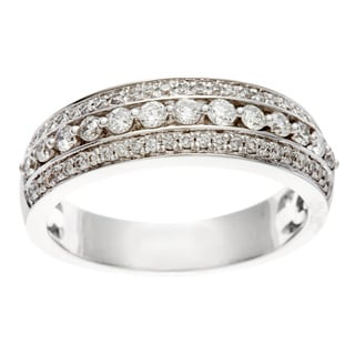 Sofia 14k White Gold 1/2ct TDW Certified Diamond Anniversary Band (H-I, I1-I2)