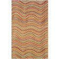 Contemporary Multicolored Stripe Wool Rug (5' x 7'9)