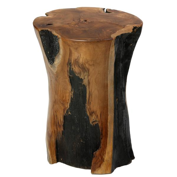 Large Tree Stump Coffee Table: Bare Decor Hourglass Stump End Table