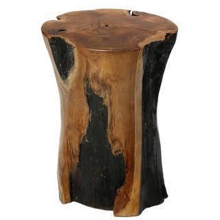 Bare Decor Hourglass Stump End Table