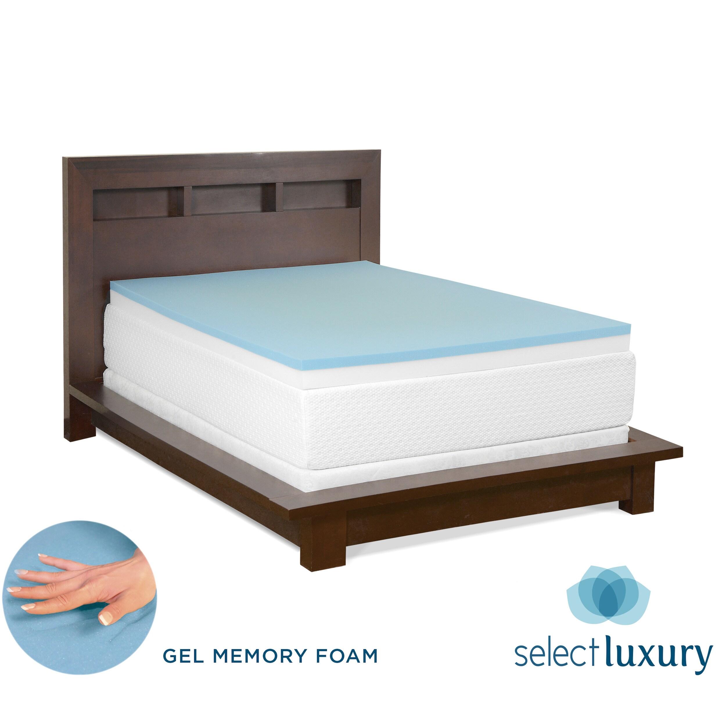 serta 4 inch memory foam mattress topper with contour pillows memory bed mattress sale. Black Bedroom Furniture Sets. Home Design Ideas