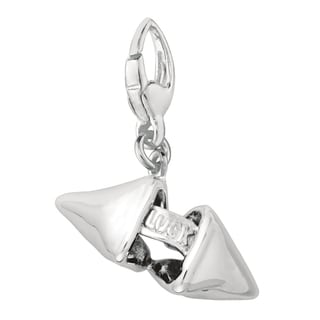 Sterling Silver Fortune Cookie Clip-on Charm