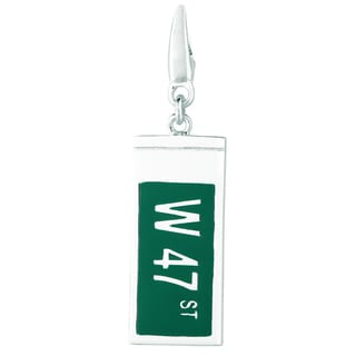 Sterling Silver 'W 47 ST' Clip-on Charm