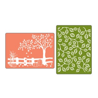 Sizzix Textured Impressions Fall Set Embossing Folders (2 Pack)