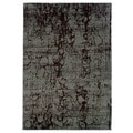 Abstract Light Brown/ Light Blue Area Rug (5'3 x 7'5)