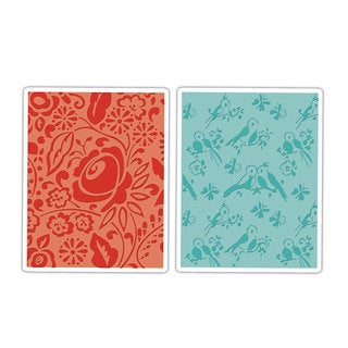 Sizzix Textured Impressions Birds/ Blooms Embossing Folders (2 Pack)