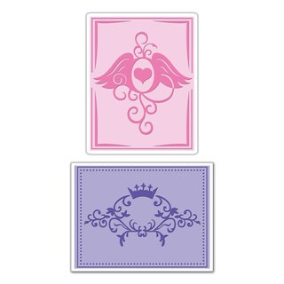 Sizzix Textured Impressions Crown/ Wings Embossing Folders (2 Pack)