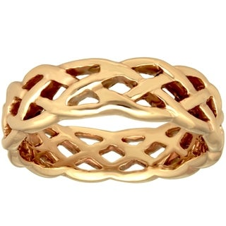 14k Yellow Gold Women's Comfort Fit Celtic Wedding Band