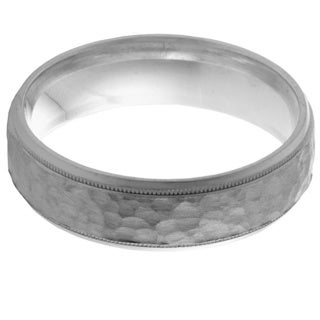 14k White Gold Women's Comfort Fit Handmade Wedding Band