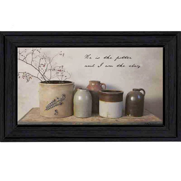 He Is The Potter Framed Wall Art