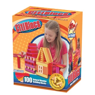 Citiblocs 100-Piece Hot Colors Construction Set